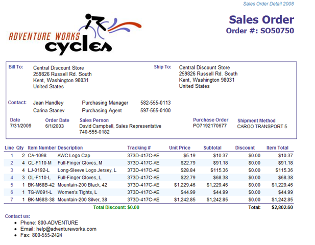 Consuming SSRS data in Excel 2007 Chris Webbs BI Blog – Sales Order Template Example